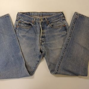 Levi's vintage jeans 501xx button fly as 32X34